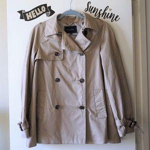 BR Classic Cream Beige Short Rain / Trench Coat S